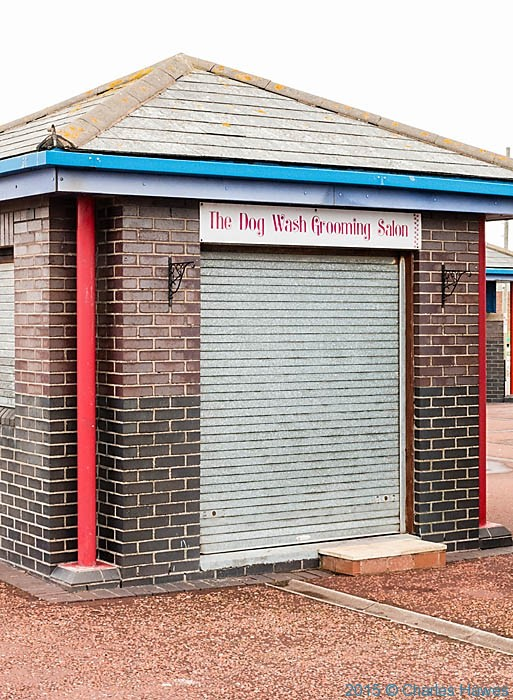 Dog Wash Grooming Salon, Pensarn, photographed from The Wales Coast Path by Charles Hawes