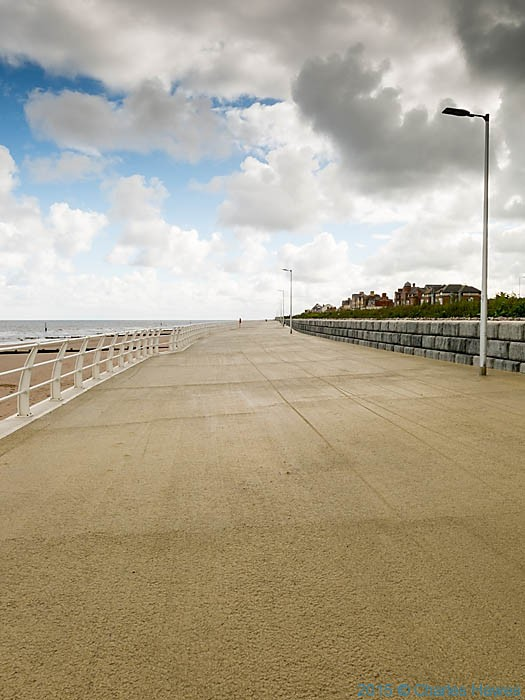 Rhyl promenade, photographed from The Wales Coast Path by Charles Hawes