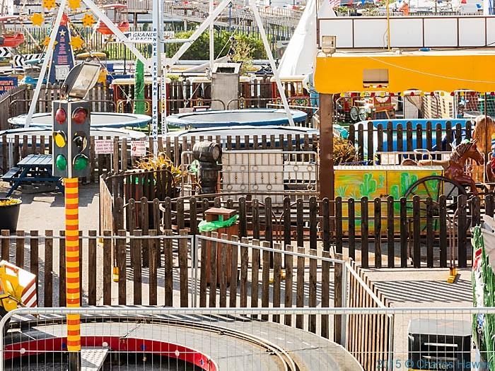 Knightly's Fun Park, Towyn, photographed from The Wales Coast Path by Charles Hawes