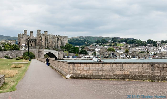 View to Conwy Castle photographed from The Wales Coast Path by Charles Hawes