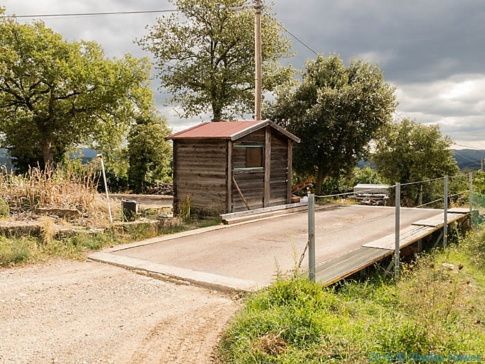 Weighbridge at Poggio al Vento near Badia a Passignano, Tuscany, photographed by Charles Hawes