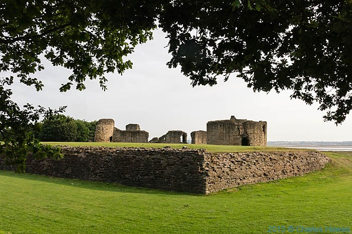 Flint Castle, photographed from The Wales Coast Path by Charles Hawes