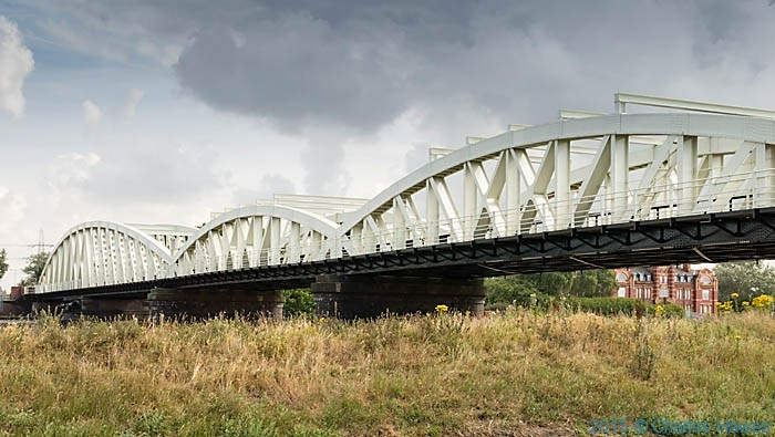 Hawarden Bridge, photgraphed from The Wales Coast Path by Charles Hawes