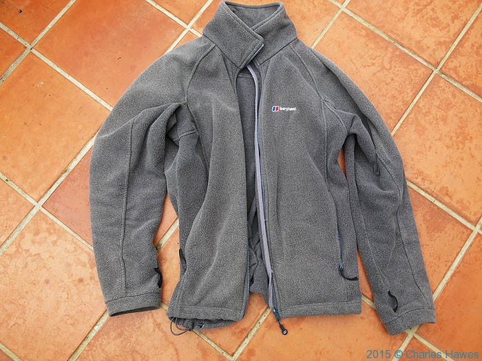 Berghaus fleece, photographed from Charles Hawes