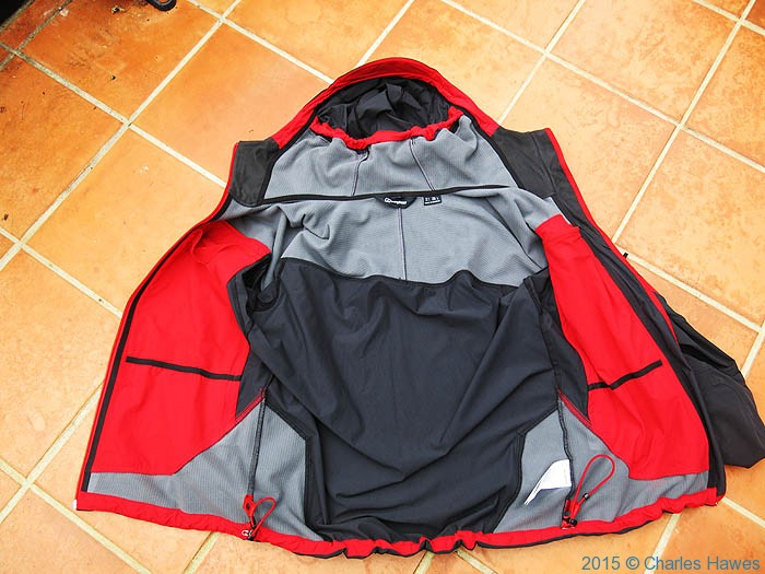 Inside the Berghaus Jorasses softshell, photographed by Charles Hawes