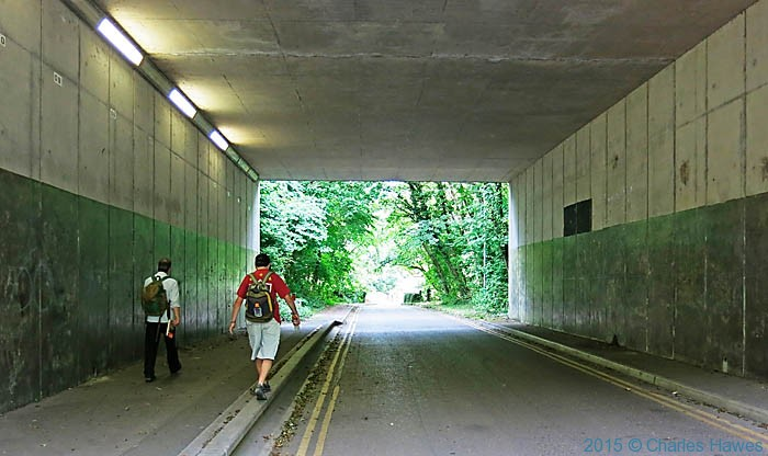 Underpass of the A467 photographed from The Cambrian Way by Charles Hawes