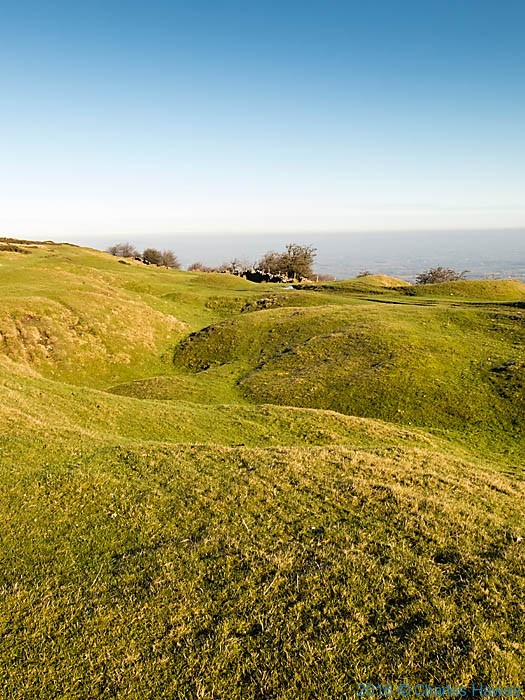 Lumpy ground on the Cambrian Way near Mynydd Garnclochdy, photographed by Charles Hawes