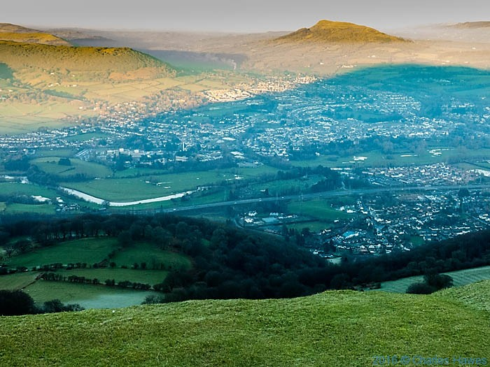 View of Abergavenny from Blorenge, photographed by Charles Hawes