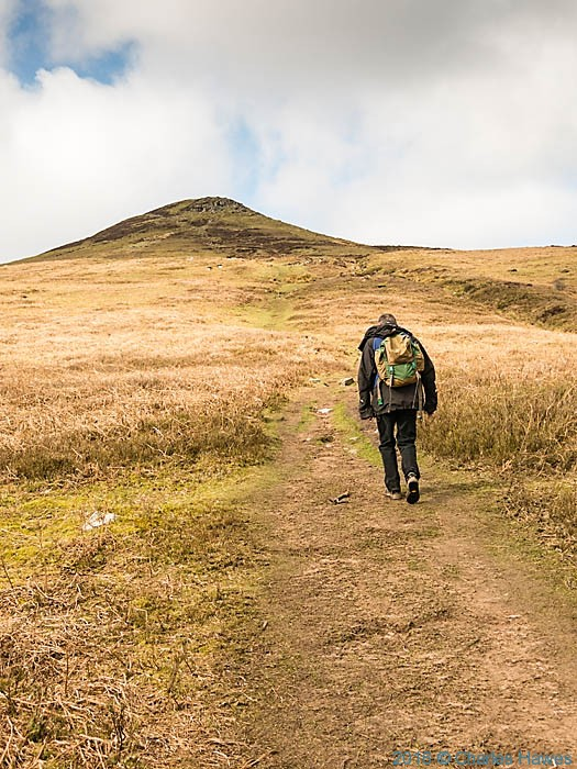 Approaching Sugar Loaf, photographed from The Cambrian Way by Charles Hawes