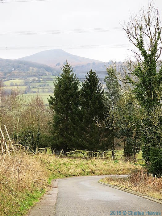 View to Sugar Loaf from Llanfoist, photographed from The Cambrian Way by Charles Hawes