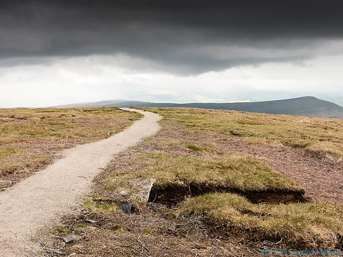 Cambrian Way near Waun Fach in the Black Mountains, photographed by Charles Hawes