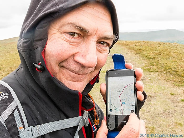 Charles Hawes on the Cambrian Way, photographed by Neil Smurthwaite