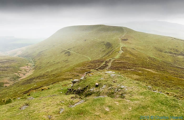 View to Mynydd Lysiau from the Cambrian Way, The Black Mountains, Photographed by Charles Hawes