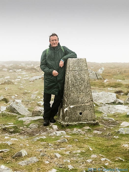 Trig Point on Pen Cerrig-calch photographed on the Cambrian Way by Charles Hawes