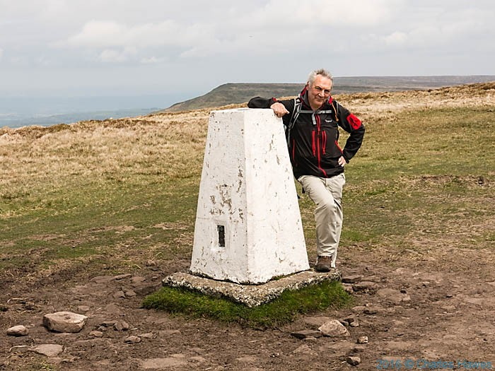 Rhos Dirion Trig Point, photographed on the Cambrian Way by Neil, Smurthwaite