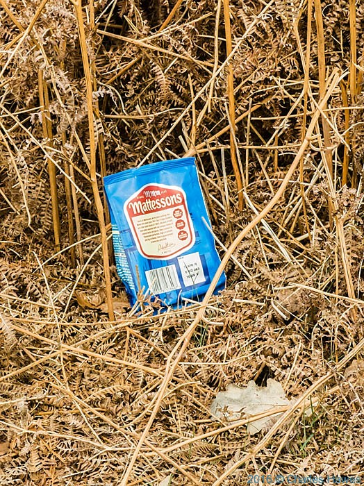Litter on the Cambrian Way, photographed by Charles Hawes