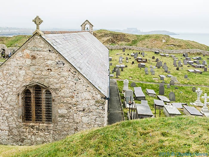 St Patricks church, Llanbadig, photographed from the Wales Coast Path in Anglesey by Charles Hawes