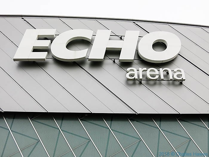 Echo Arena, Liverpool waterfront, photographed by Charles Hawes