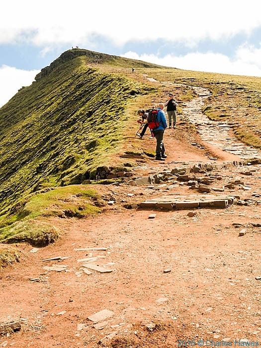 Path to Corn Du summit, Brecon Beacons , photographed by Charles Hawes