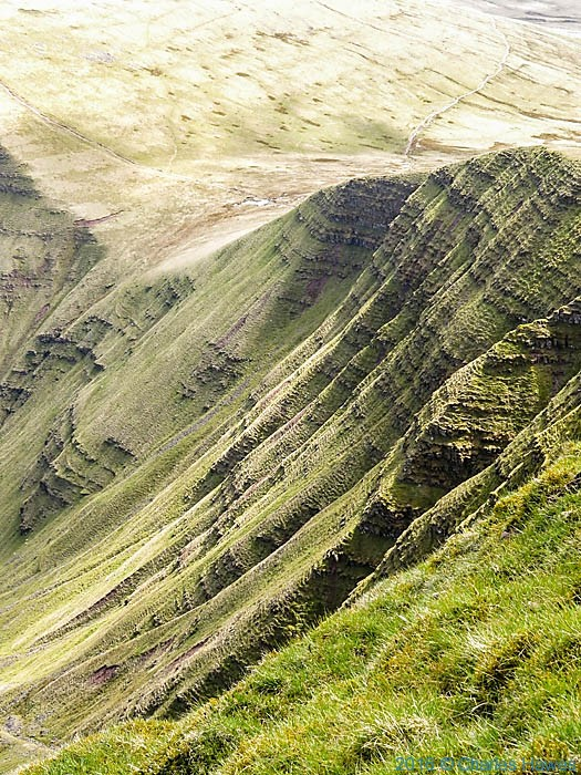 Escarpment below the Summit of Pen y Fan, Brecon Beacons, photographed by Charles Hawes