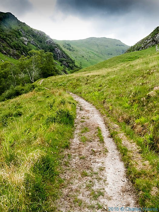 Path in Glen Meadail, Knoydart, Scotland, photographed by Charles Hawes