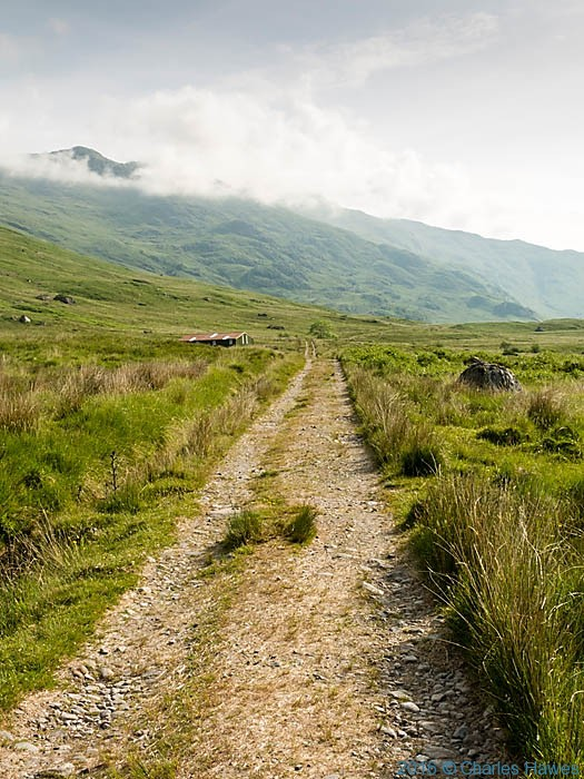 Path to Loch an Dubh-Lochain on Knoydart penisula, Scotland, photographed by Charles Hawes