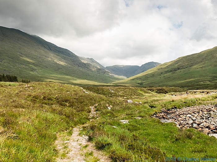 Allt Coire Torr an Asgaill and the Gleann na Guiserein, Knoydart, Scotland, photographed by Charles Hawes