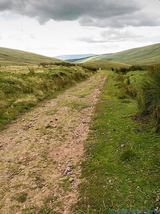 Cambrian Way crossing the Roman Road near Ystradfellte, photographed by Charles Hawes