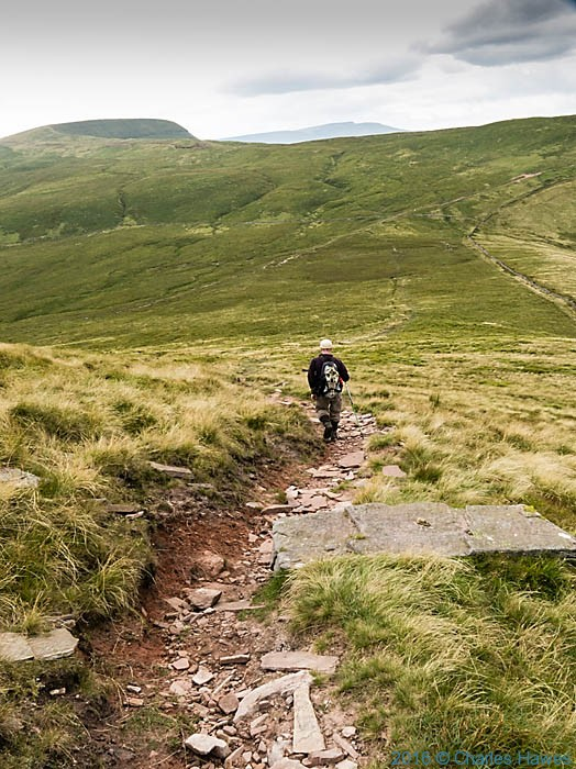 Cambrian Way off Fan Nedd, photographed by Charles Hawes