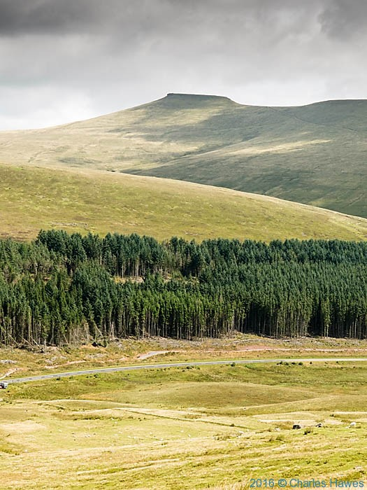 View to Corn Du from the side of Fan Fawr, Brecon Beacons, photographed by Charles Hawes