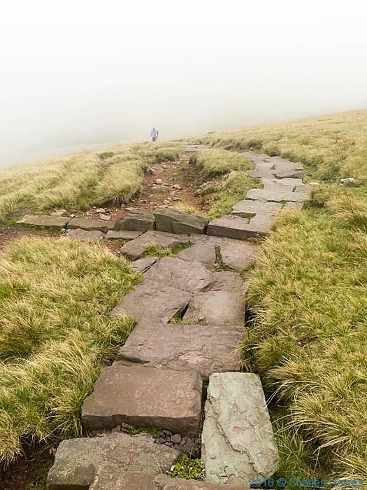 Cambrain Way above Llyn y Fan Fawr, photographed by Charles Hawes