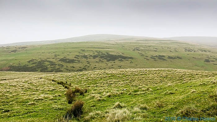 Carmarthenshire countryside near Llandovery, photographed from The Cambrian way by Charles Hawes