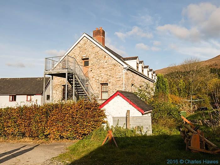 Gwerrnpwll farm - Coleg Elidyr near Rhandirmwyn photographed from The Cambrian way by Charles Hawes