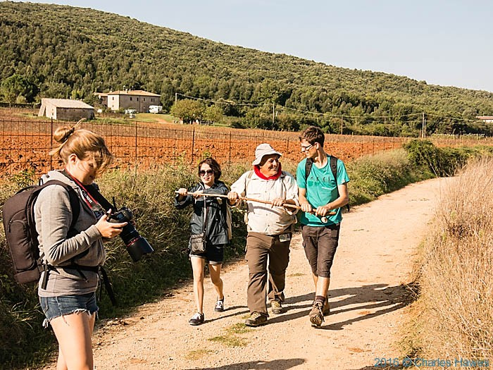 Pietro Labate on the Via Francigena near Monteriggioni, photographed by Charles Hawes