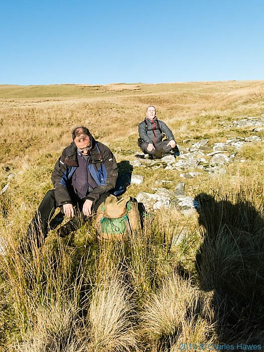 A rest on the Cambrian Way in Ceredigion, photographed by Charles Hawes