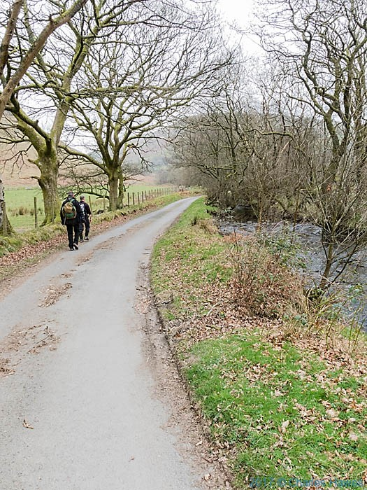 The Cambrain Way beside the Afron Mwyro in Ceredigion, photographed by Charles Hawes