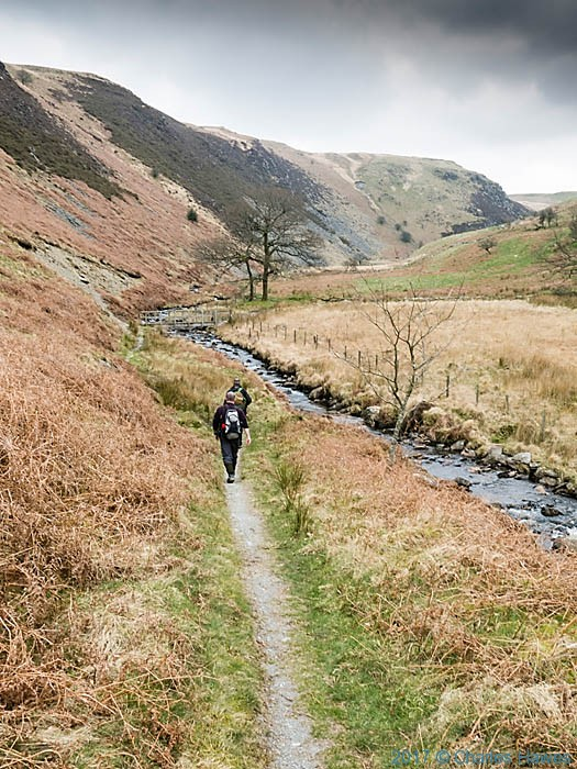 Cambrian Way by the Nant Egnanat, photographed by Charles Hawews