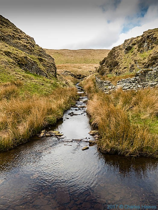The Afon Claerddu photographed from The Cambrian Way by Charles Hawes