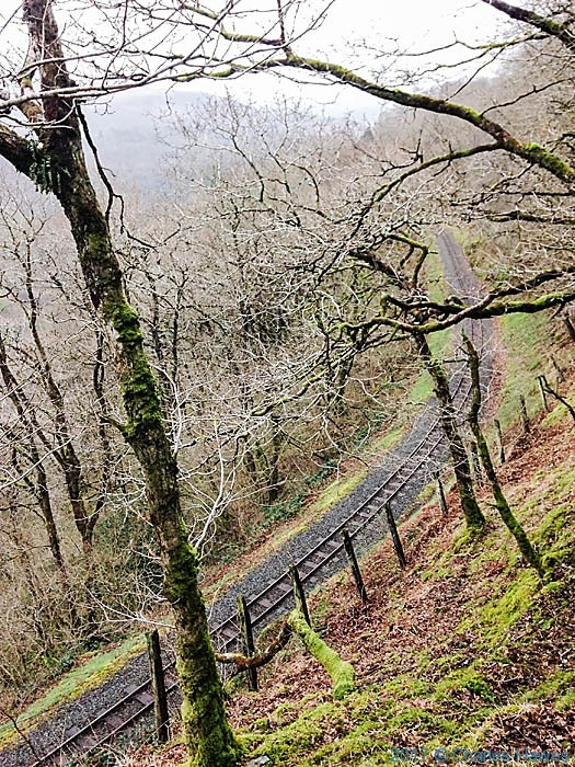 Rheidol Valley railway, photographed from The Cambrian Way by Neil Smurthwaite