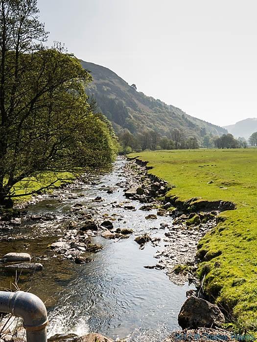 Ceiriog river near Llanarmon Dyffryn Ceiriog, photographed by Charles Hawes