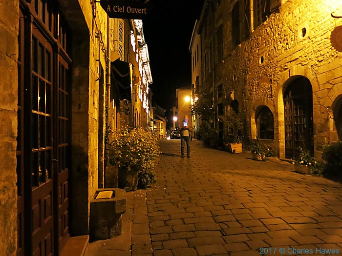 Cordes sur Ciel at night, photographed by Charles Hawes