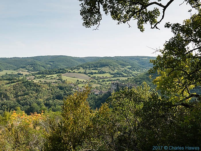 View across the Aveyron valley near Penne, photographed by Charles Hawes