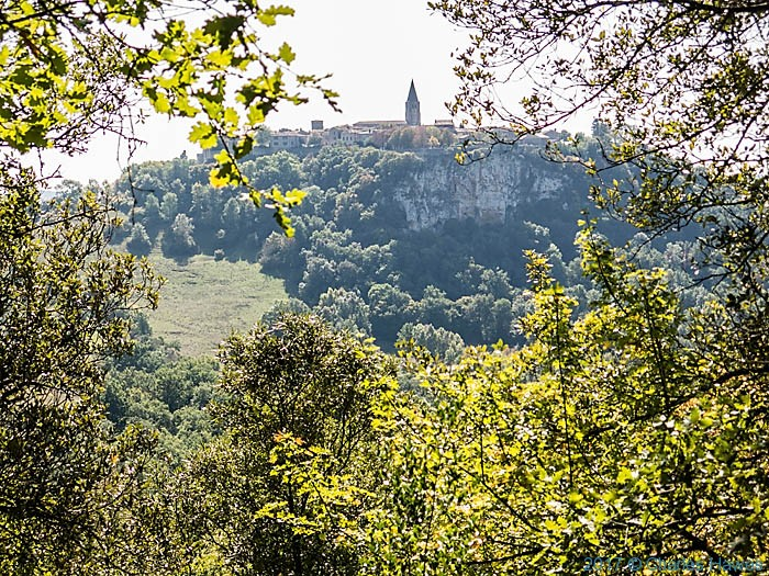 View to Puycelci from the Forest of Gresigne, photographed by Charles Hawes