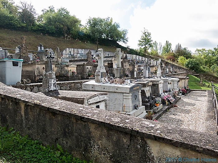 Cemetery of L'Eglise St Eugene, Vieux, France, photographed by Charles Hawes