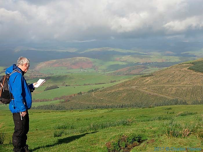 View from the Cambrian Way near Dylife, photographed by Paul Steer