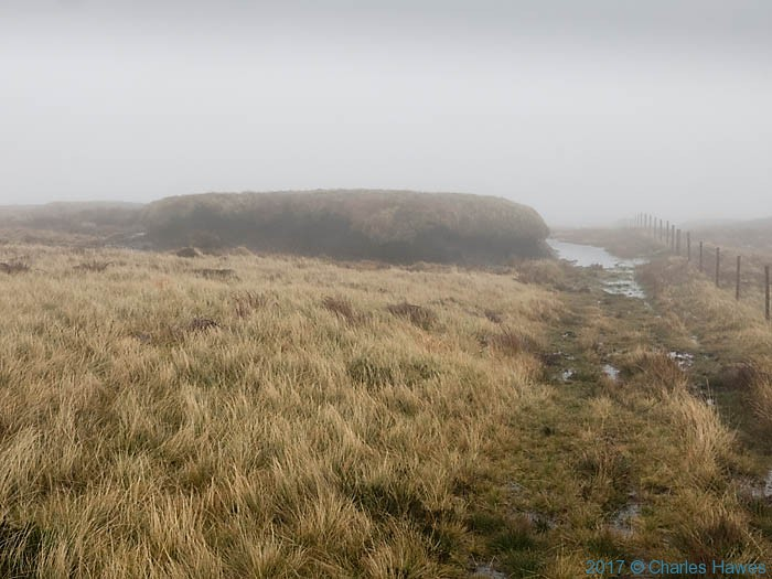Peat on the Cambrian Way near Plylimon, photographed by Charles Hawes
