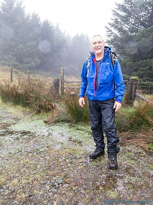 Charles Hawes on the edge of the Blaen Peithant wood on the Cambrian Way, photographed by Charles Hawes