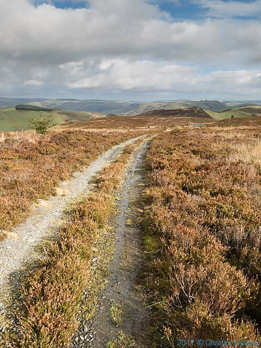 Cambrain Way on the edge of Waun Tyisaf, photographed by Charles Hawes