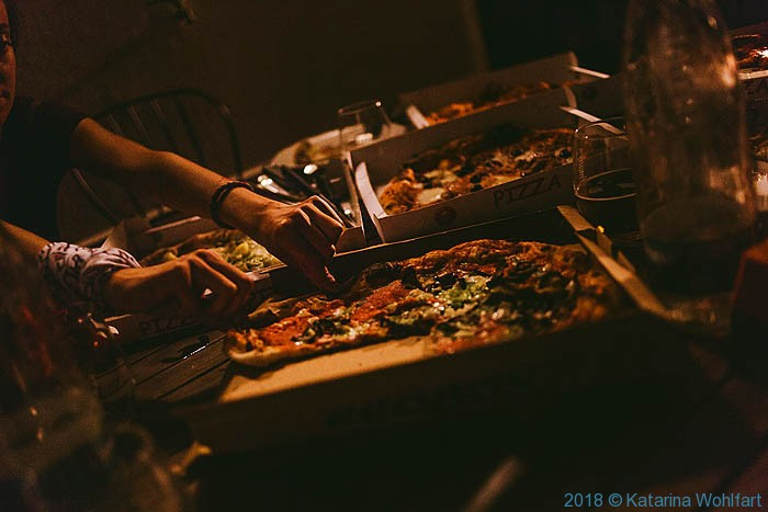 Pizza feast; image by Katarina Wohlfart