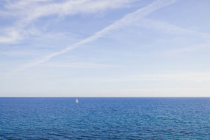 The sea off Imperia; image by Katarina Wohlfart